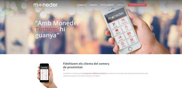 Javajan. Nueva web para la plataforma de fidelización Moneder