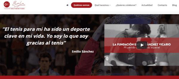 Javajan. Nueva web para la Fundación Emilio Sánchez Vicario