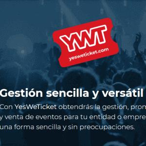YesWeTicket, gestión de venta de entradas