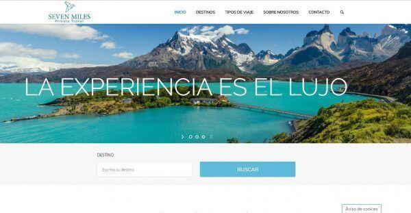 Javajan. Creación de una web de viajes de lujo para la marca Seven Miles