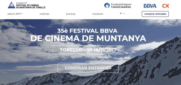 Javajan. Re diseño web de la página del Festival del Cinema de Muntanya de Torelló