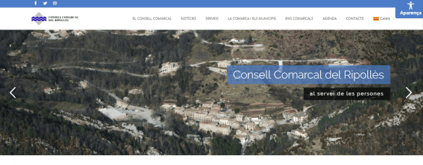 Javajan. Nueva web para el Consell Comarcal del Ripollès